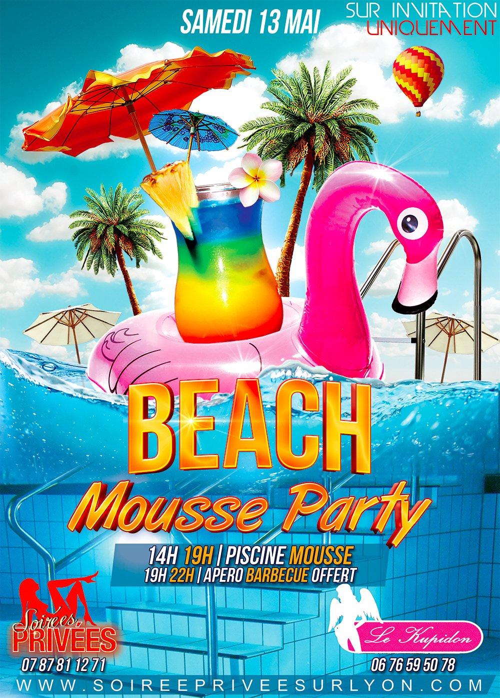 Billetterie mega mousse party billetweb for Piscine libertine