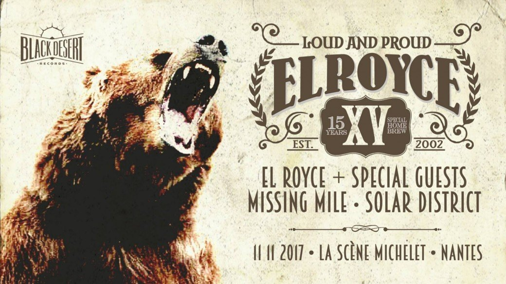 15 ANS EL ROYCE | LA SCENE MICHELET (NANTES) + MISSINGMILE + SOLAR DISTRICT