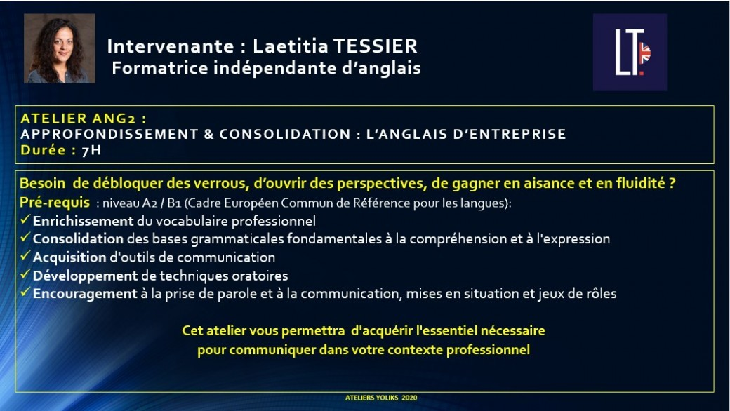 ANG2  :  Approfondissement & consolidation : L'anglais d'entreprise