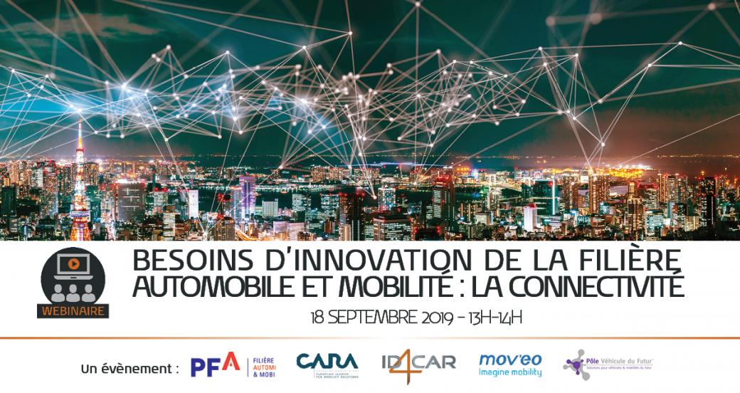 Besoins d'innovation de la filière automobile et mobilité : La connectivité