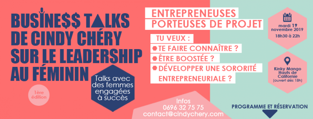 Business Talks de Cindy Chery : le Leadership au féminin