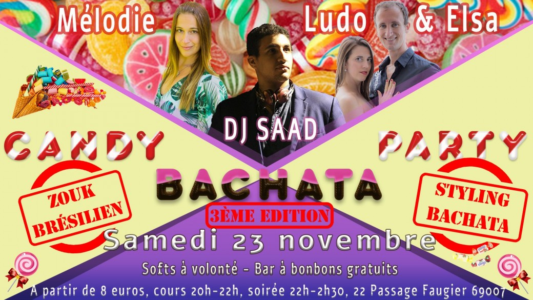 CANDY BACHATA PARTY - Inscriptions Hommes/Leaders