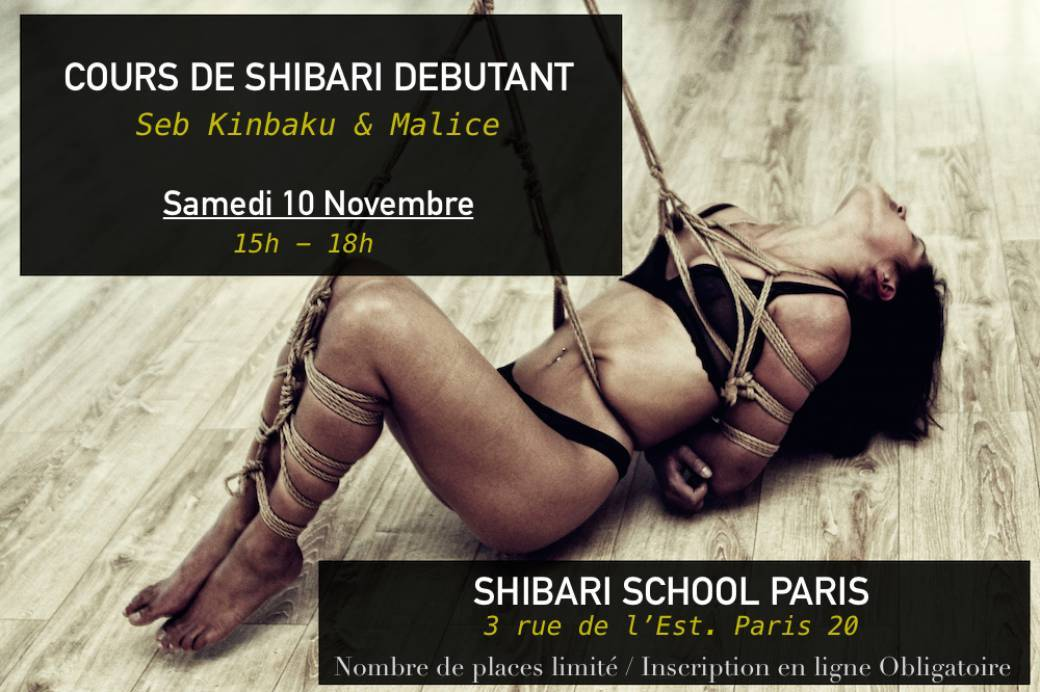 Cours Shibari - Shibari School Paris - Novembre 2018
