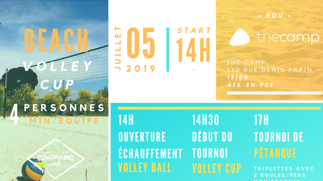 COWORKING WEEK'S CLOTURE, Volley & Pétanque Cup + AFTERCUP
