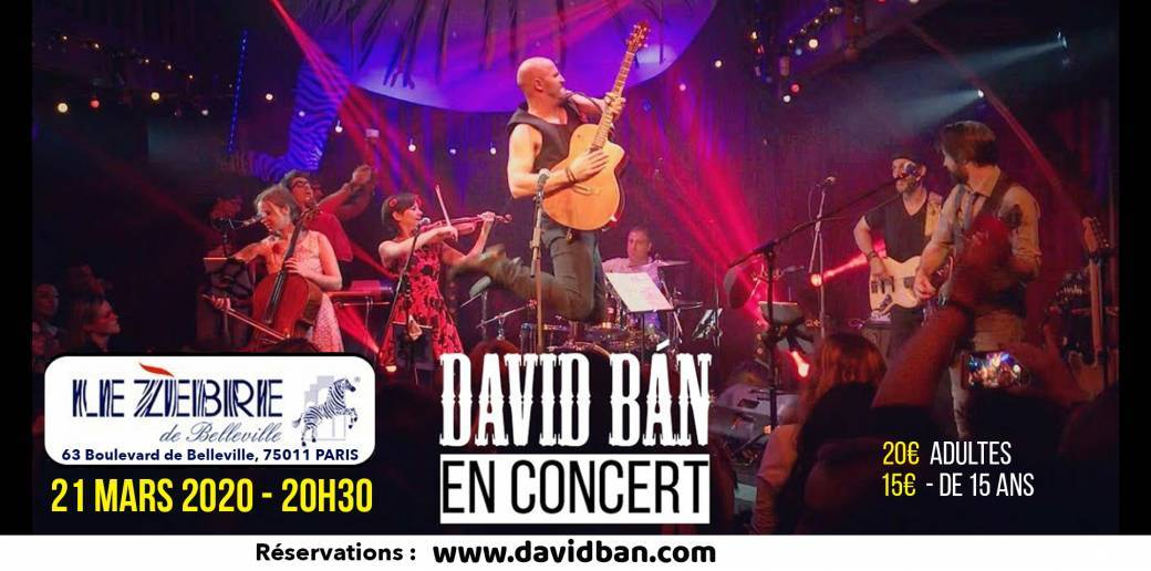 David BÁN en Concert à Paris