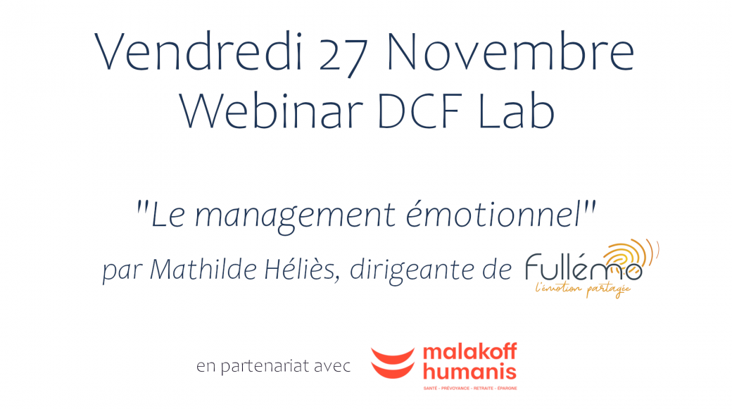 Webinar DCF Lab - Le management émotionnel