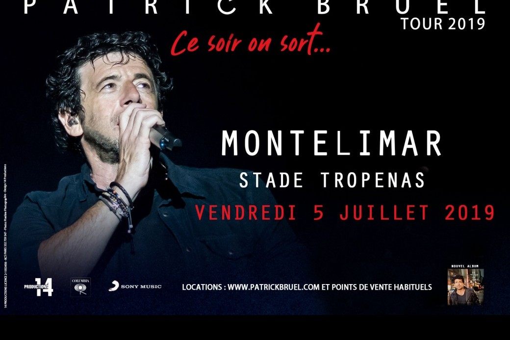 "Patrick BRUEL TOUR 2019 ""Ce soir on sort..."""