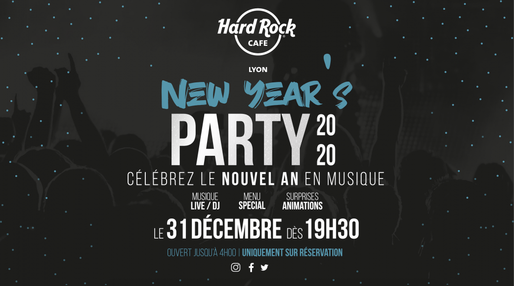 New Year's Party 2020 au Hard Rock Cafe