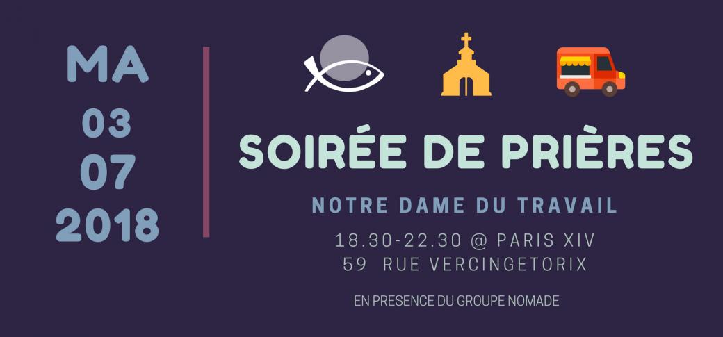 e38fa6019b7 Billetterie   Soirée de prières   EDC Paris - Billetweb