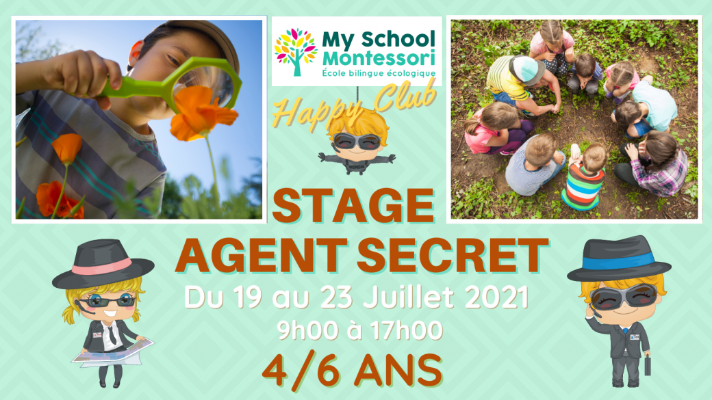 Stage Petit Agent Secret, 4/6 ans