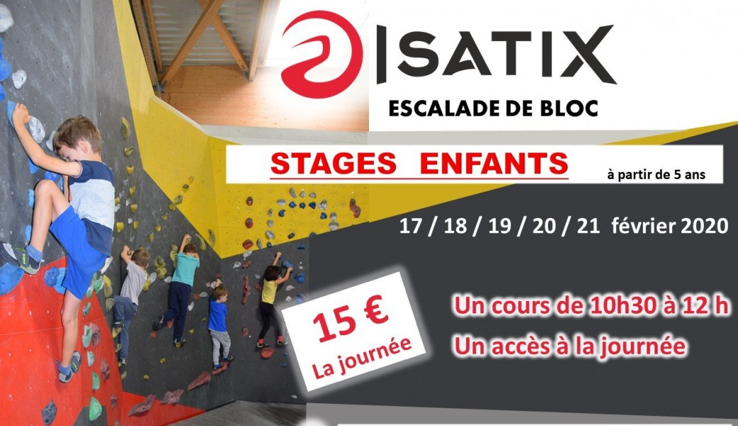 Stages Escalade fevrier 2020