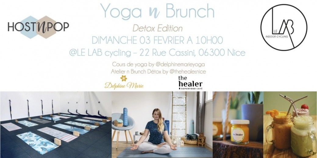 Yoga n Brunch Detox Edition // HostnPop x Le Lab Cycling