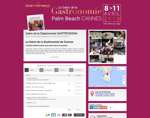 [Page Billetweb] Salon de la gastronomie