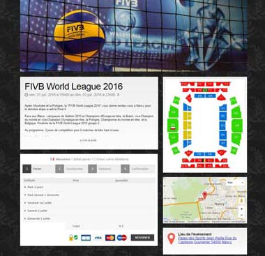 [Page Billetweb] Fédération Francaise de Volley - World League
